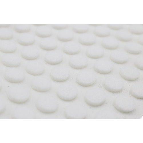 White Felt Bumper 5/16 inch Diameter x 1/8 inch High-Per Hundred
