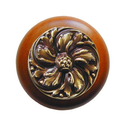 Notting Hill English Garden 1-1/2 Inch Diameter Antique Brass Cabinet Knob NHW-714C-AB