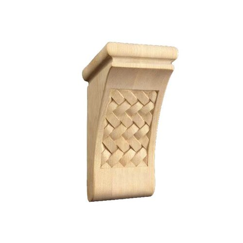 Brown Wood Small Weaved Corbel Unfinished Hard Maple 01602070HM1