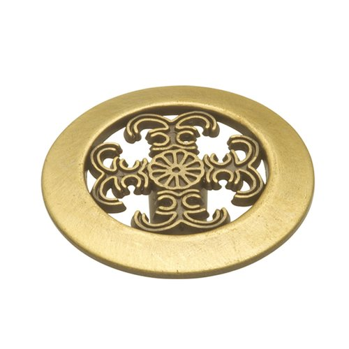 Cavalier 1-1/2 Inch Diameter Antique Brass Cabinet Knob <small>(#P117-AB)</small>