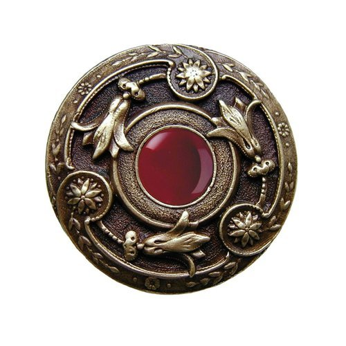 Notting Hill Jewel 1-1/4 Inch Diameter Antique Brass Cabinet Knob NHK-161-AB-RC