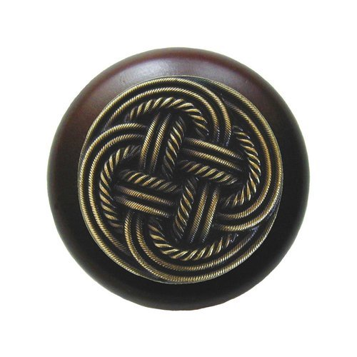 Notting Hill Classic 1-1/2 Inch Diameter Antique Brass Cabinet Knob NHW-739W-AB