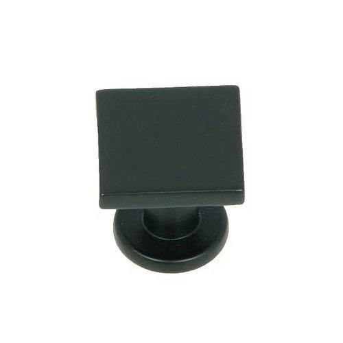Stone Mill Hardware Milan 1 Inch Diameter Matte Black Cabinet Knob CP4416-MB
