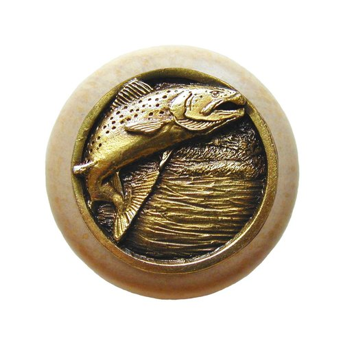 Notting Hill Great Outdoors 1-1/2 Inch Diameter Antique Brass Cabinet Knob NHW-708N-AB