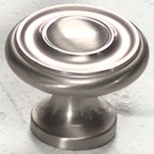 Schaub and Company Solid Brass Traditional Designs 1-1/4 Inch Diameter Satin Nickel Cabinet Knob 703-15