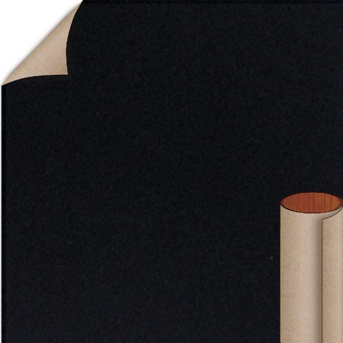 Nevamar Jett Black Textured Finish 5 ft. x 12 ft. Countertop Grade Laminate Sheet S6053T-T-H5-60X144