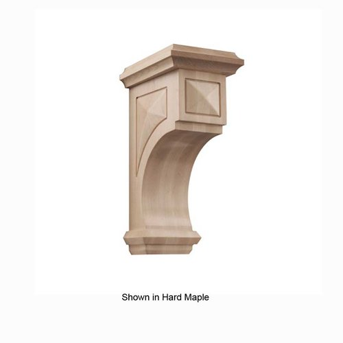 Brown Wood Large Apex Corbel Unfinished Red Oak 01607317AK1