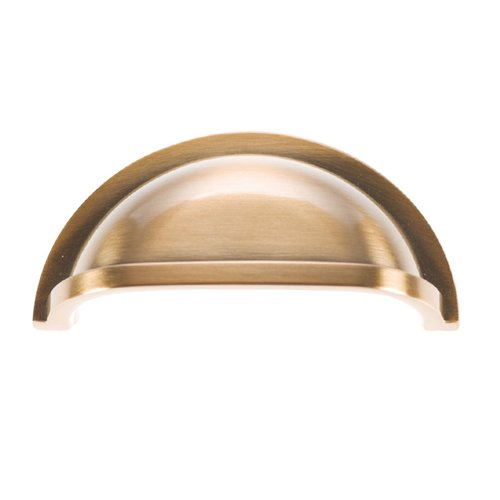 Hickory Hardware Williamsburg 3 Inch Center to Center Satin Rose Gold Cabinet Cup Pull P3055-SRG