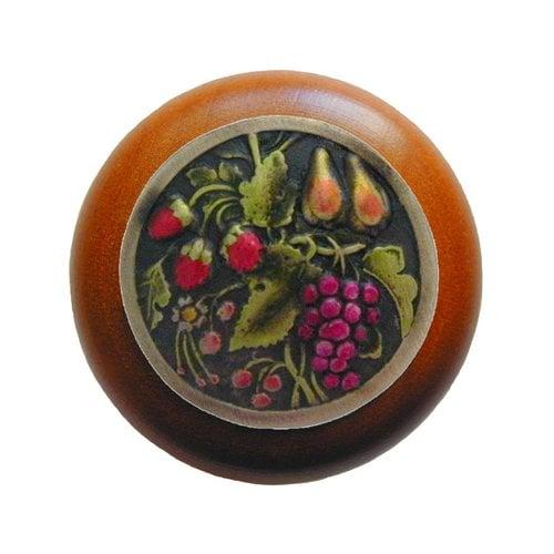 Notting Hill Tuscan 1-1/2 Inch Diameter Brass Hand Tinted Cabinet Knob NHW-713C-BHT
