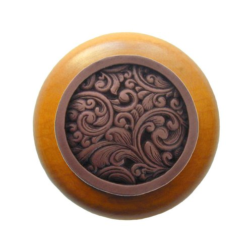 Notting Hill Classic 1-1/2 Inch Diameter Antique Copper Cabinet Knob NHW-759M-AC