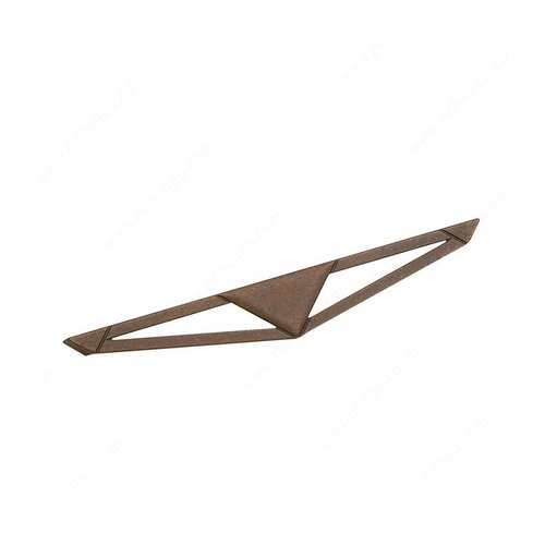 Art Deco 6-5/16 Inch Center to Center Spotted Bronze Cabinet Pull <small>(#616823160138)</small>