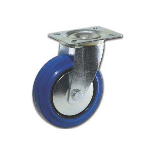 Richelieu Elastic Rubber Wheel Caster With Swivel - Blue F24789