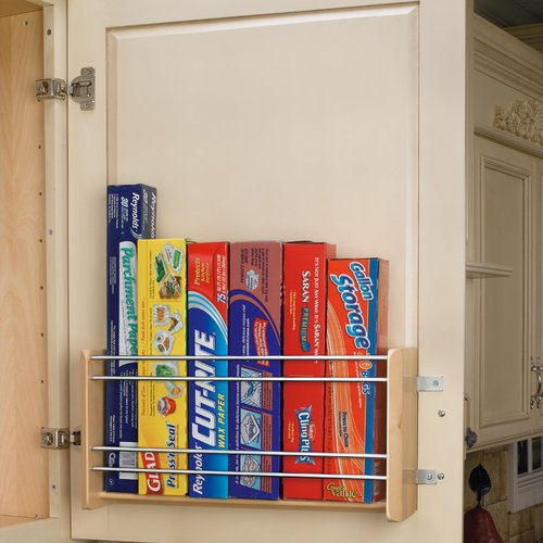Rev-A-Shelf Vertical Foil Rack For 21 inch Cabinet-Maple 4WFR-21-1