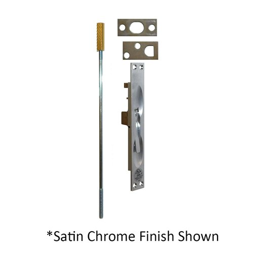 Don-Jo UL Rated Flush Bolt For Metal Doors Satin Brass 1555-606