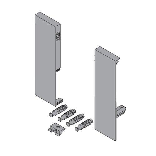 Blum Tandembox Interior Nylon Front Fixing Bracket Set Gray ZIF.75D0.US
