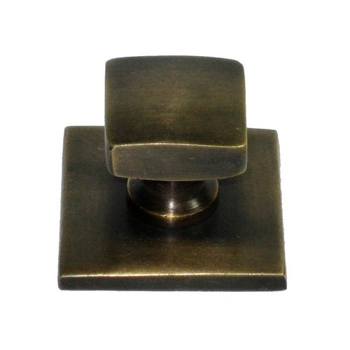Knobs 1-1/4 Inch Diameter Unlacquered Antique Brass Cabinet Knob <small>(#HKN3012)</small>