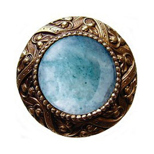 Notting Hill Jewel 1-5/16 Inch Diameter Antique Brass Cabinet Knob NHK-124-AB-GA