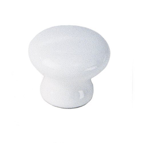 White Porcelain 1-3/8 Inch Diameter White Cabinet Knob <small>(#01642)</small>