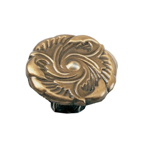 Laurey Hardware Classic Traditions 1-1/2 Inch Diameter Antique Brass Cabinet Knob 76605