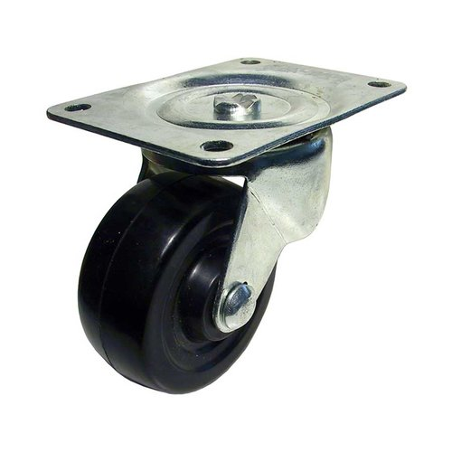 Richelieu Rubber Caster with Swivel - Black F25091