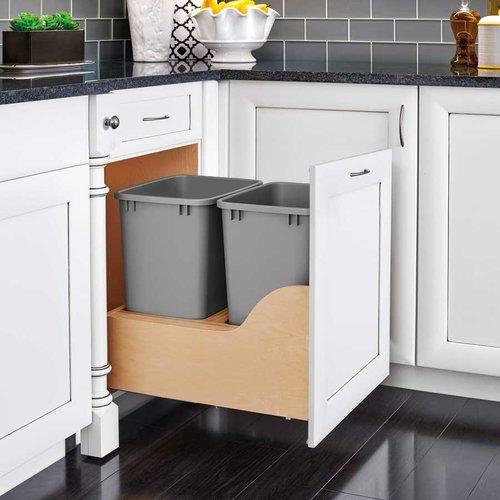 Rev-A-Shelf Soft-Close Double Trash Pullout 50 Quart 4WCSC-2150DM-2