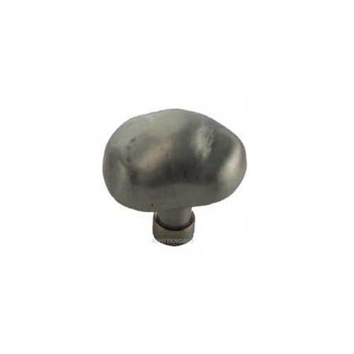 MNG Hardware Potato 1-1/2 Inch Diameter Satin Antique Nickel Cabinet Knob 14221