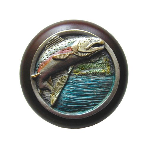 Great Outdoors 1-1/2 Inch Diameter Pewter Hand Tinted Cabinet Knob <small>(#NHW-708W-PHT)</small>
