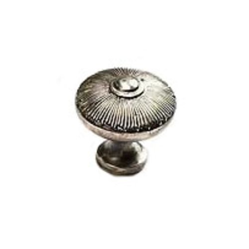 Schaub and Company Sunburst 1-1/2 Inch Diameter Silver Antique Cabinet Knob 974-SA