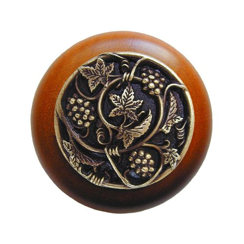 Notting Hill Tuscan 1-1/2 Inch Diameter Antique Brass Cabinet Knob NHW-729C-AB