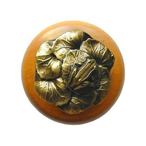 Notting Hill All Creatures 1-1/2 Inch Diameter Antique Brass Cabinet Knob NHW-709M-AB