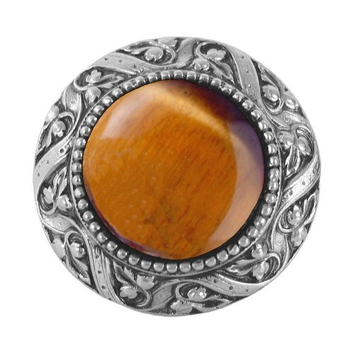 Jewel 1-5/16 Inch Diameter Antique Pewter Cabinet Knob <small>(#NHK-124-AP-TE)</small>