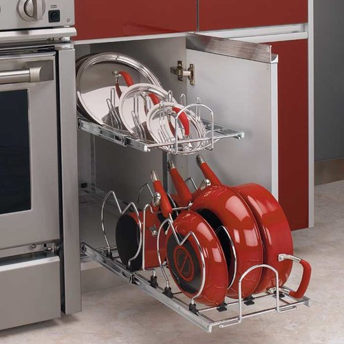 2 Tier Cookware Organizer - Chrome <small>(#5CW2-1222-CR)</small>