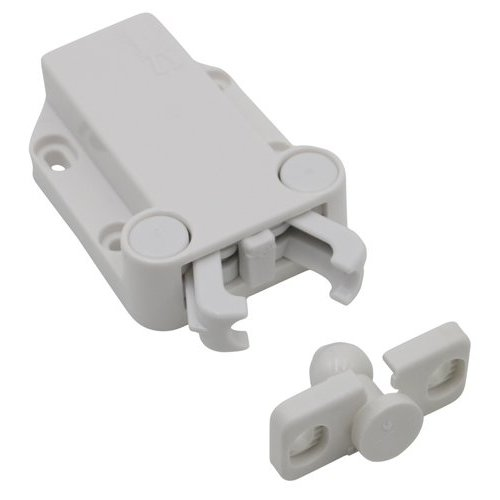 Jaws Touch Latch Large White <small>(#MC-37/WH-1)</small>