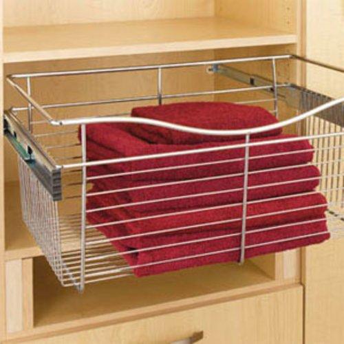 "Rev-A-Shelf Pullout Wire Basket 30"" W X 16"" D X 7"" H CB-301607CR"