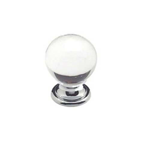 Europa 1-3/16 Inch Diameter Clear Crystal Ball/Chrome Cabinet Knob <small>(#7038-926-C)</small>