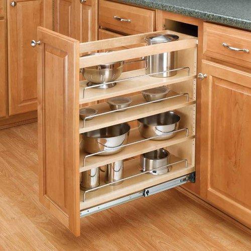 """Rev-A-Shelf Rev A Shelf 3 Tier Organizer 5""""-Wood For 19"""" Depth 448-BC19-5C"""