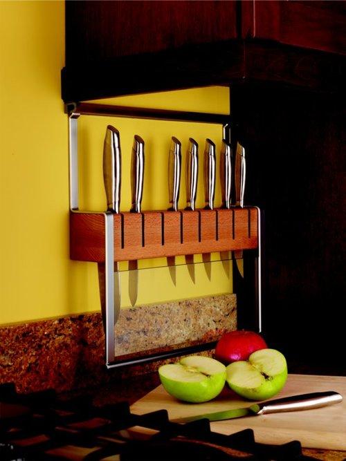 Kessebohmer Knife Holder For Backsplash Rail System Stainless Look 521.61.633