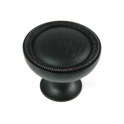 MNG Hardware Vanilla 1-1/4 Inch Diameter Oil Rubbed Bronze Cabinet Knob 17013