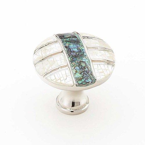 Schaub and Company Fair Isle 1-3/8 Inch Diameter Polished Nickel Cabinet Knob 653-PN