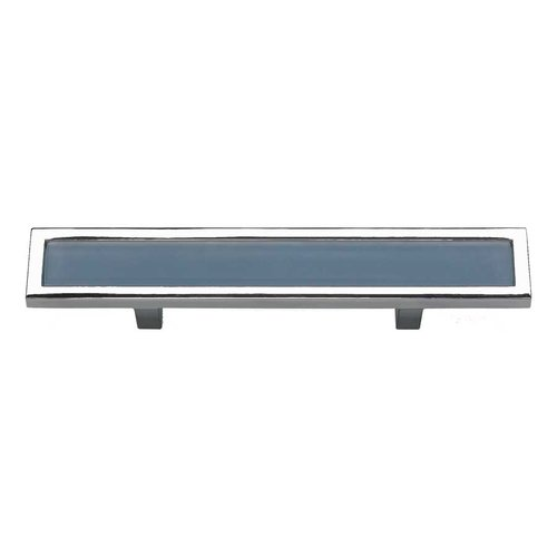 Atlas Homewares Spa 3 Inch Center to Center Polished Chrome Cabinet Pull 231-BLU-CH
