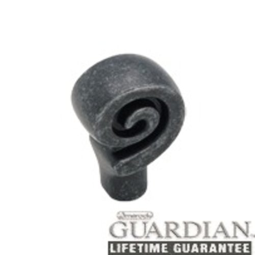 Swirl'Z 1-1/8 Inch Diameter Wrought Iron Dark Cabinet Knob <small>(#BP9339WID)</small>