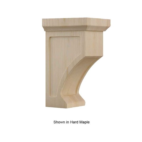 Brown Wood Petite Shaker Corbel Unfinished Red Oak 01606005AK1