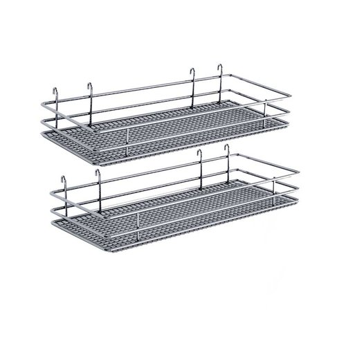 "DSA Two Basket Set 9"" Wide - Chrome <small>(#9000 2575)</small>"