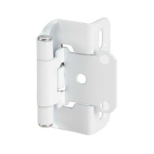 "Amerock Partial Wrap 1/2"" Overlay Hinge White - Per Pair BP7550W"