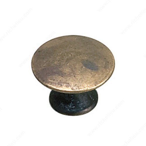 Richelieu Povera 13/16 Inch Diameter Oxidized Brass Cabinet Knob 2445920163