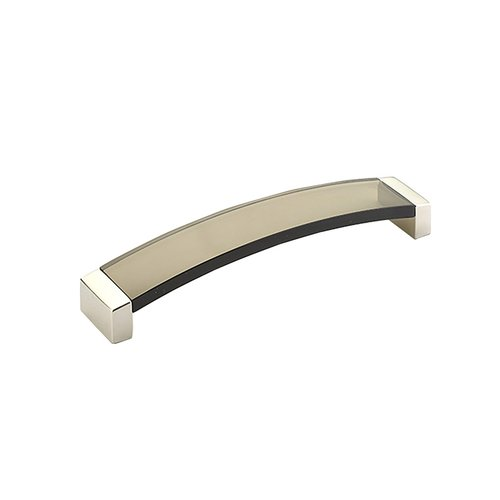 Schaub and Company Positano 6-5/16 Inch Center to Center Satin Nickel/Smoke Cabinet Pull 321-15-SM