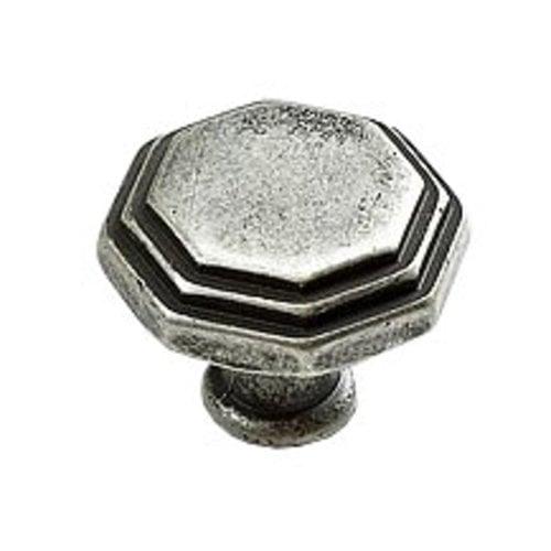 Schaub and Company Firenza Designs 1-1/8 Inch Diameter Firenza Silver Cabinet Knob 283-FS