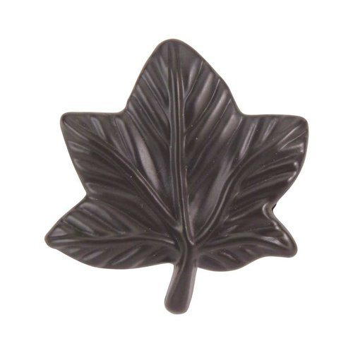 Leaf 2 Inch Diameter Aged Bronze Cabinet Knob <small>(#2203-O)</small>
