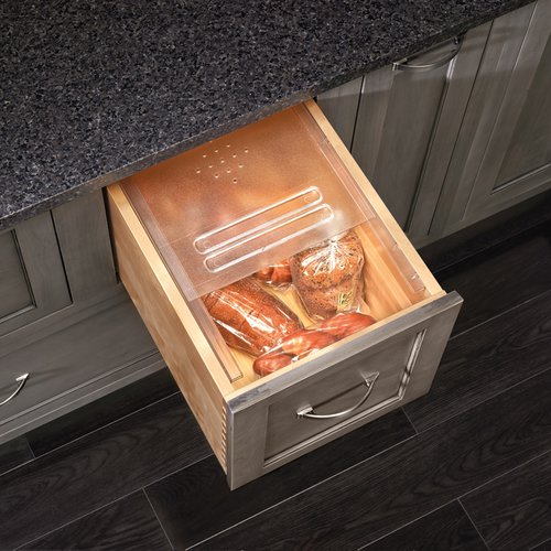 "Rev-A-Shelf Translucent Bread Drawer Cover Kit 16-3/4"" W BDC-200-20"