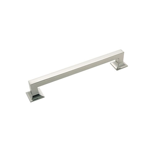 "Hickory Hardware Studio Pull 7-9/16"" C/C Polished Nickel P3019-14"